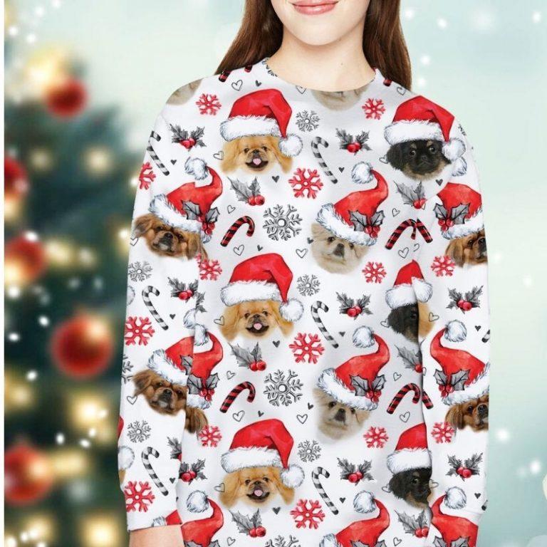 Pekingese Dog Xmas Christmas Decor sweatshirt 4