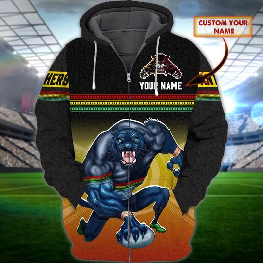 Penrith Panthers custom Personalized 3d fleece hoodie 1