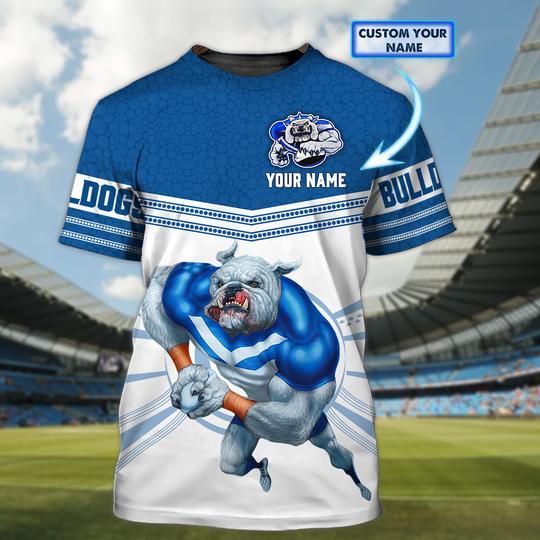 Personalized Canterbury Bankstown Bulldogs custom 3d t shirt 1