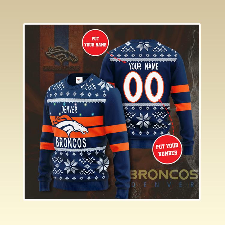 Personalized Denver broncos custom christmas sweater1