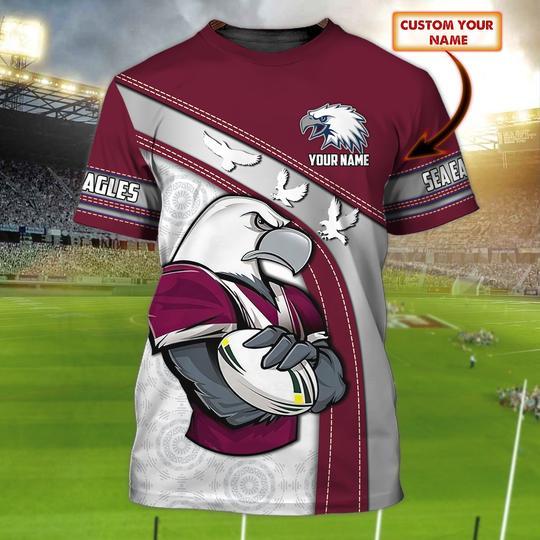 Personalized Sea Eagles custom 3d t shirt 1