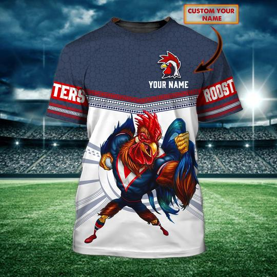 Personalized Sydney Roosters custom 3d t shirt 1