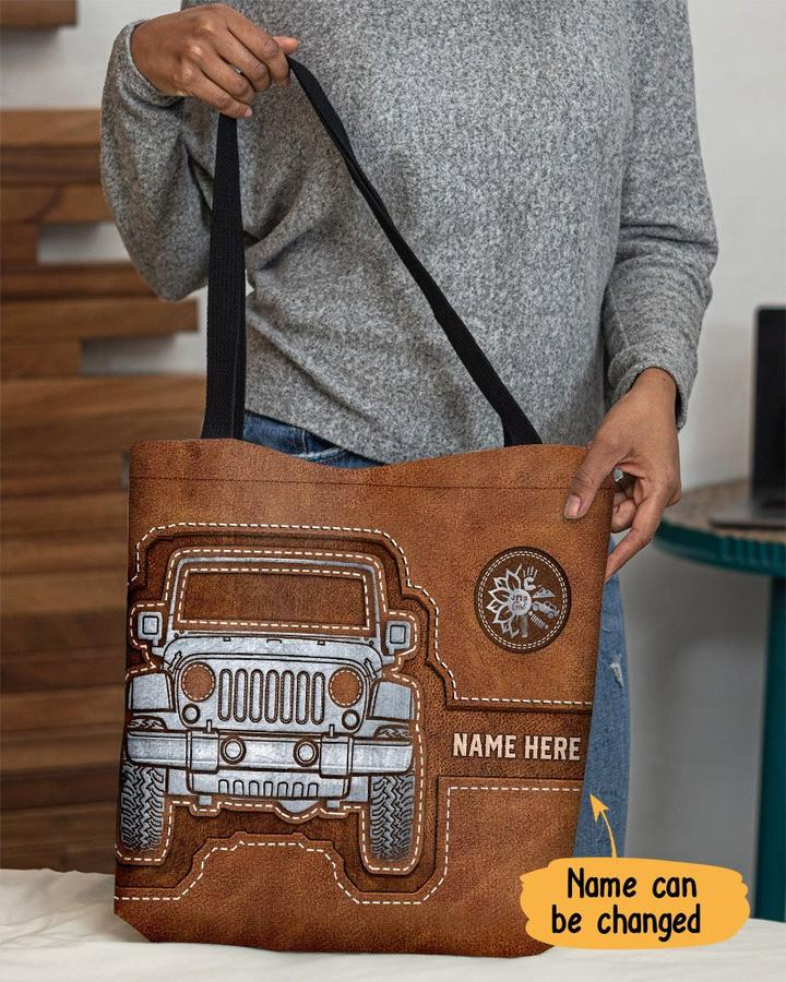 Personalized jeep custom tote bag 1