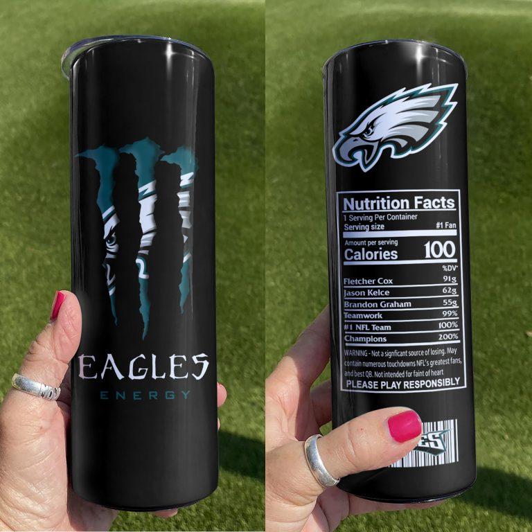Philadelphia Eagles Monster Energy Skinny Tumbler 1