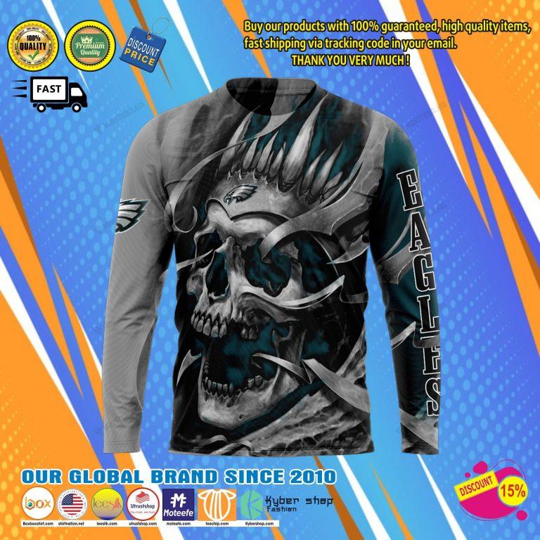 Philadelphia eagless skull jersey hoodie8