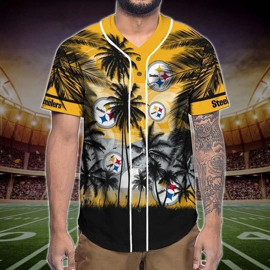 Pittsburgh Steelers Tropical Baseball Jersey3