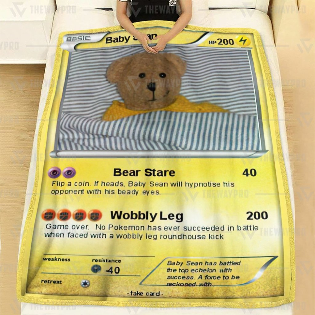 Pokemon card Baby Sean blanket 2