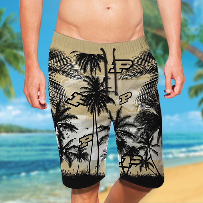 Purdue Boilermakers Tropical Hawaiian Shirt Short3