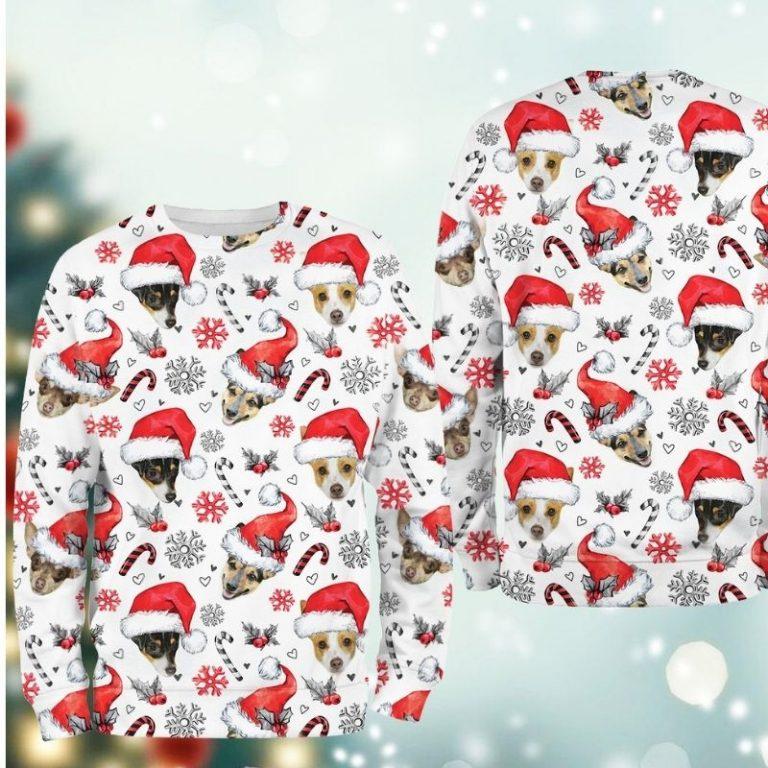 Rat Terrier Dog Xmas Christmas Decor sweatshirt 2