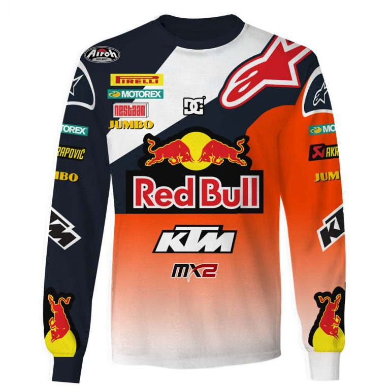 Red Bull KTM Racing custom name and number 3d shirt hoodie 3