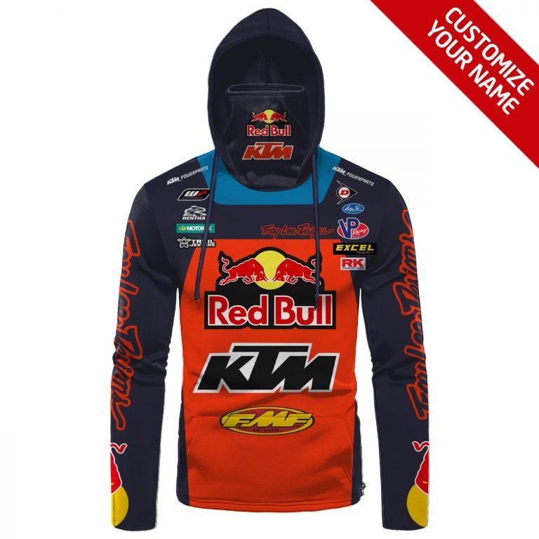 Red Bull KTM Racing custom name and number hoodie mask 1