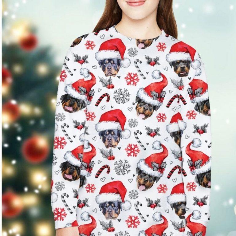 Rottweiler Dog Xmas Christmas Decor sweatshirt 1