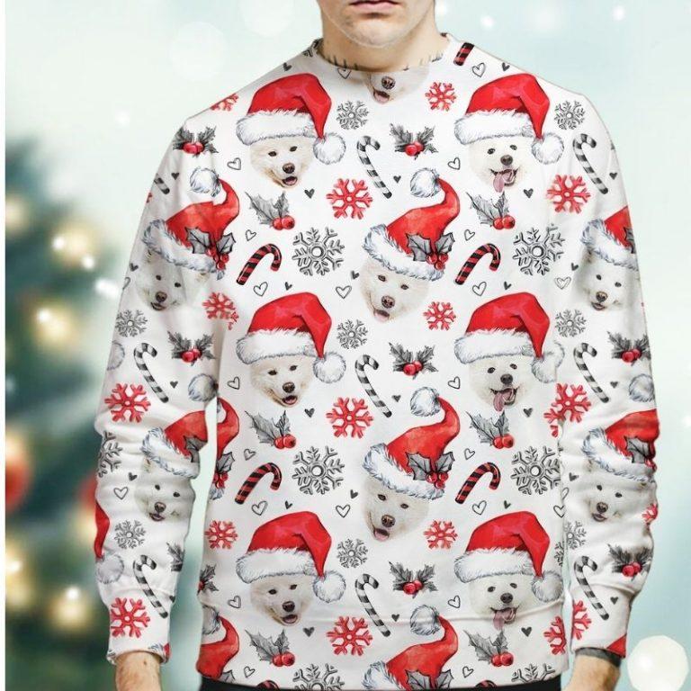 Samoyed Dog Xmas Christmas Decor sweatshirt 1