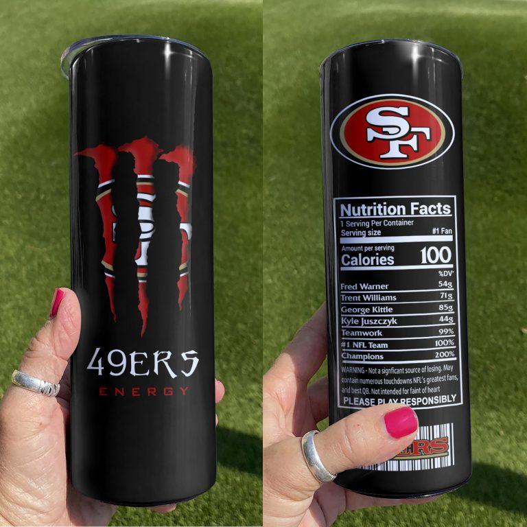 San Francisco 49ers Monster Energy Skinny Tumbler 1