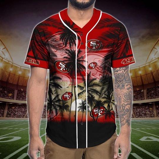 San Francisco 49ers Tropical Baseball Jersey3