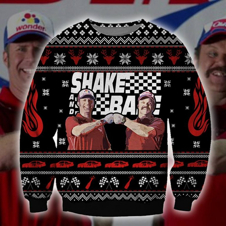 Shake and Bake racing ugly sweater sweatshirt 1