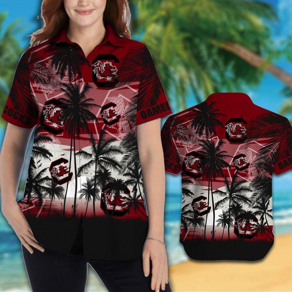 South Carolina Gamecocks football Tropical hawaiian shirt 2