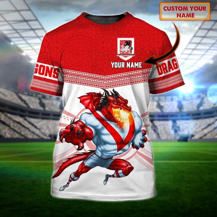 St George Illawarra Dragons custom personalized 3d t shirt 1