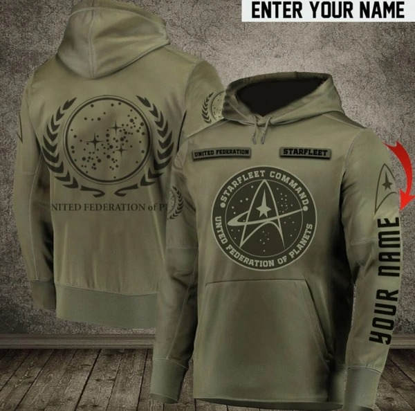 Starfleet command United Federation of Planets custom personalized 3d hoodie 1