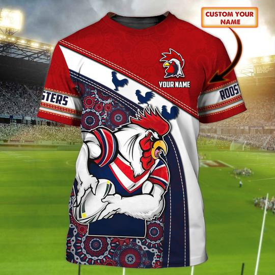 Sydney Roosters custom Personalized 3d t shirt 1