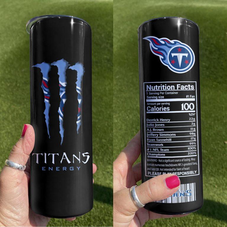 Tennessee Titans Monster Energy Skinny Tumbler 1