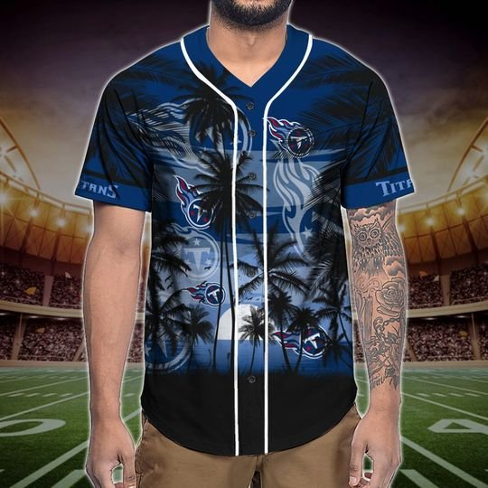 Tennessee Titans Tropical Baseball Jersey3
