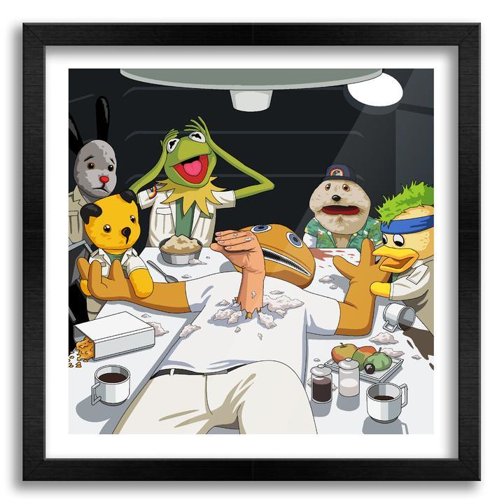 The Chestburster Scene in Alien cartoon wall art