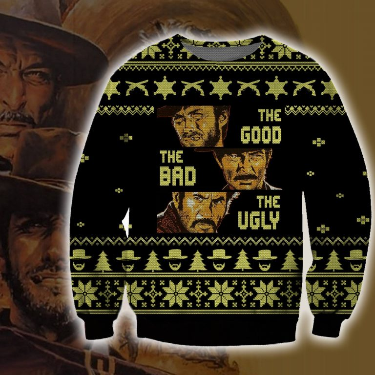 The Good the Bad and the Ugly Christmas sweater sweatshirt 1