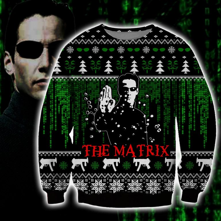 The Matrix Keanu Reeves ugly sweater sweatshirt 1