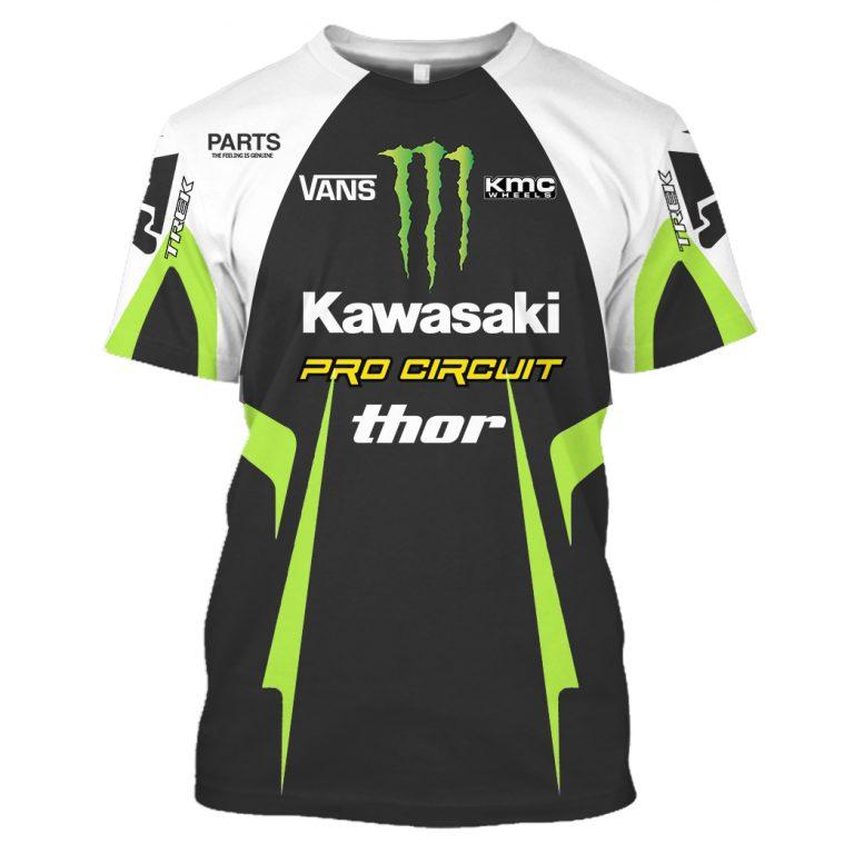 Thor Kawasaki Pro Circuit Monster Energy 3d shirt hoodie 4