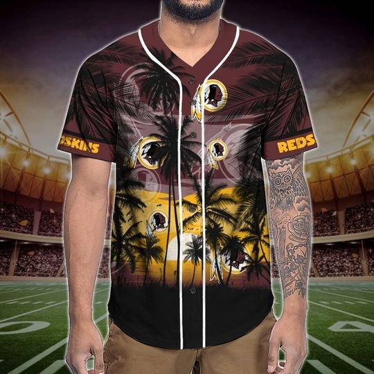 Washington Redskins Tropical Baseball Jersey3