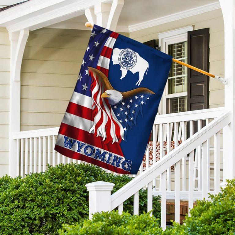 Wyoming Eagle American Flag 1