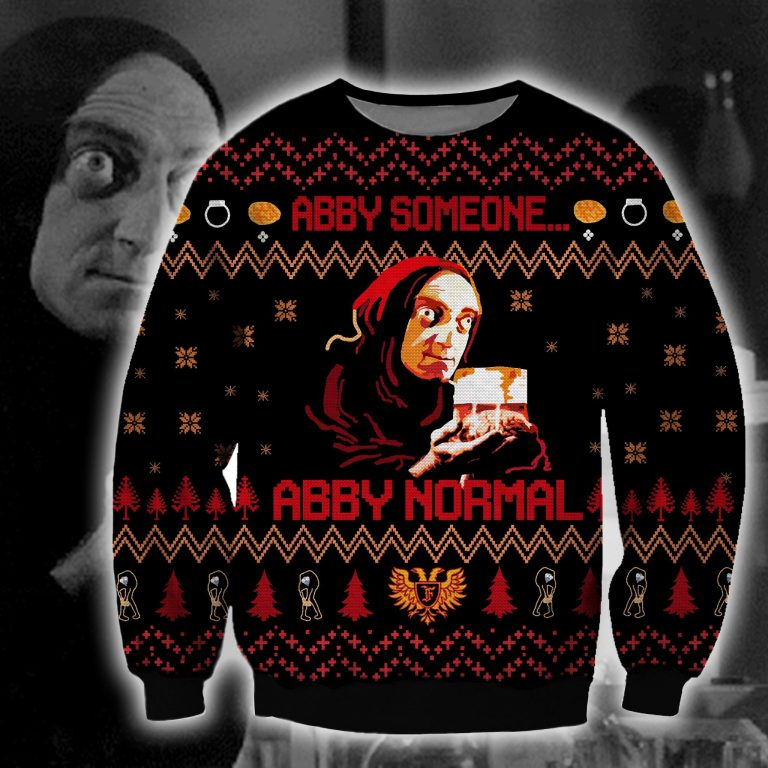 Young Frankenstein Abby Someone Abby normal ugly sweater 3