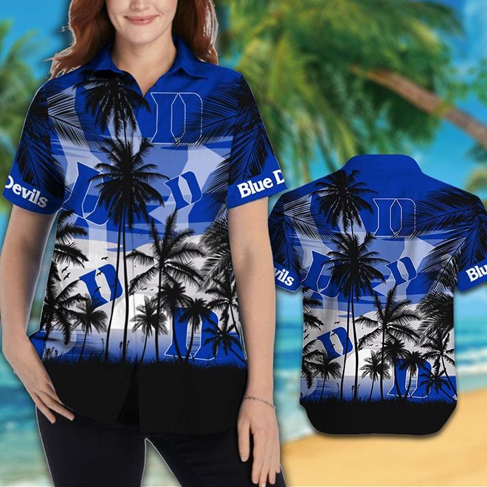 Duke Blue Devils Tropical Hawaiian Shirt, Short