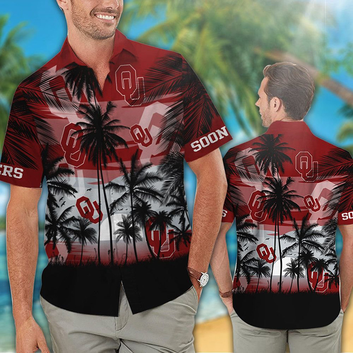Oklahoma Sooners Tropical Hawaiian Shirt Short
