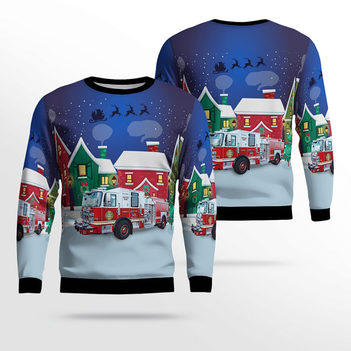 Jersey City Fire Department Ugly Christmas Sweater